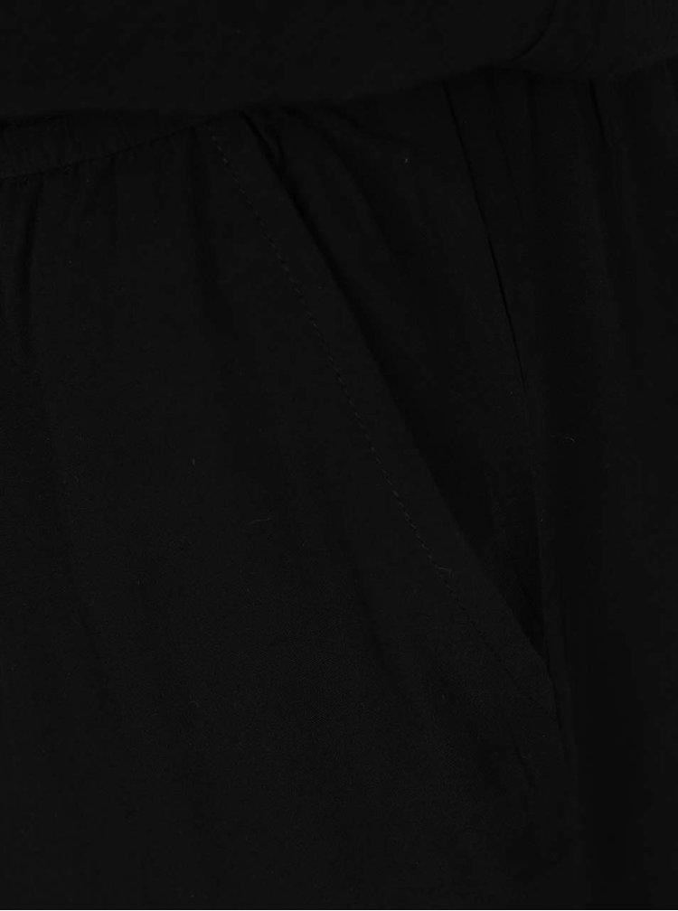 Černý krátký overal s knoflíky na zádech ONLY Nova