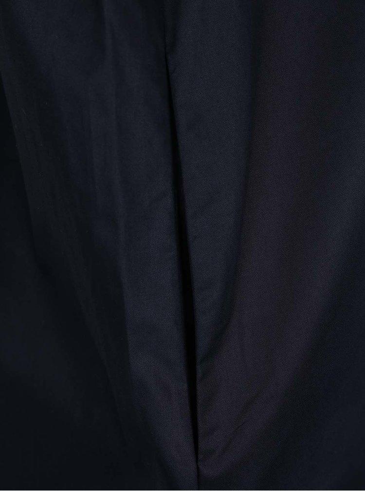 Rochie tip camasa albastru inchis Selected Femme Kiana   cu slituri laterale