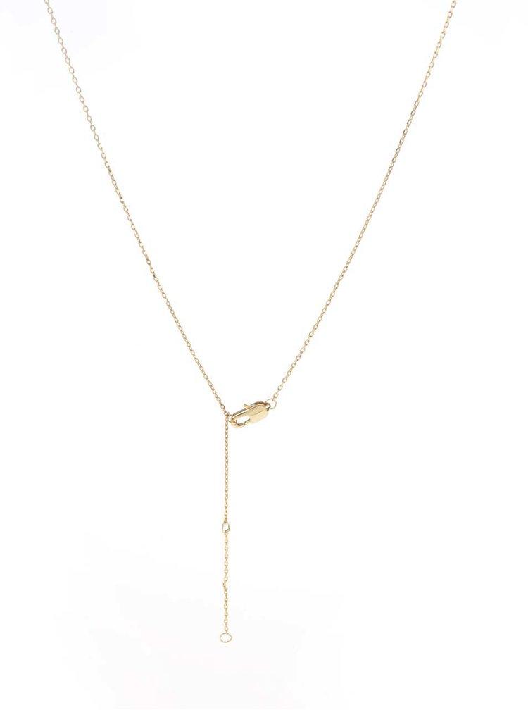 Řetízek ve zlaté barvě s přívěskem kosti Pieces Elsa