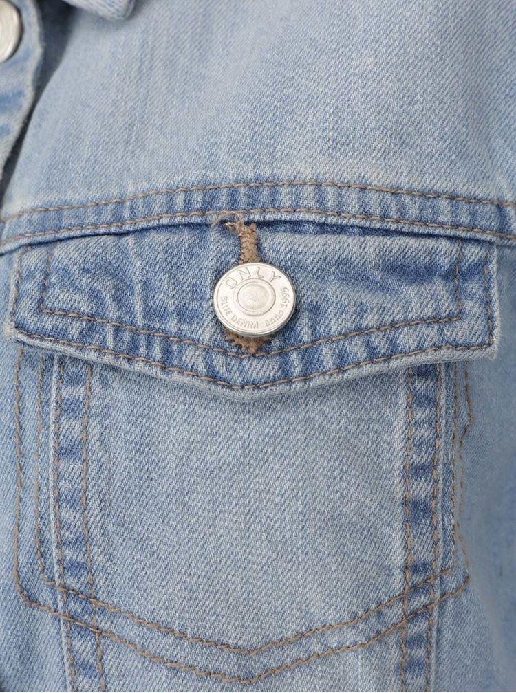 Jacheta albastra ONLY Westa din denim