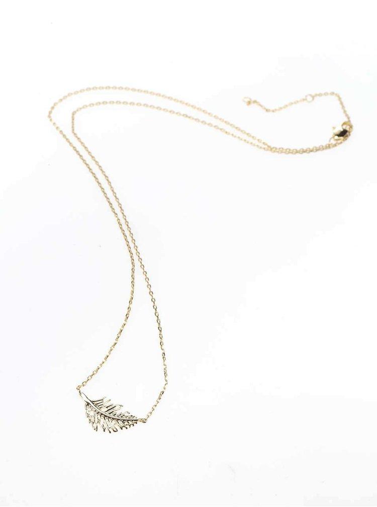 Colier auriu Pieces Elsa cu pandantiv