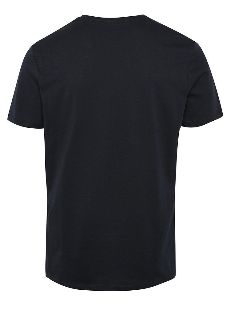 Tmavě modré tričko s potiskem Jack & Jones Ornyraffa