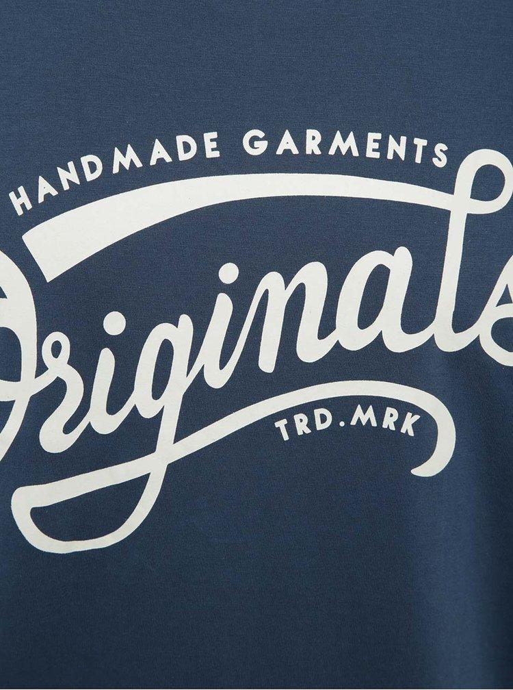 Modré tričko s potlačou Jack & Jones Ornyraffa