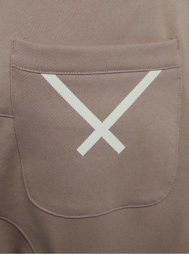 Béžové pánské tepláky s reflexním prvkem adidas Originals XBYO