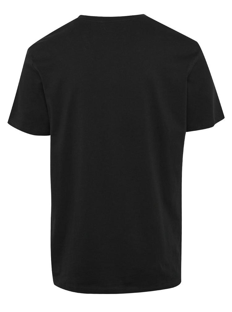 Tricou negru cu print din bumbac - Jack & Jones Ornyraffa