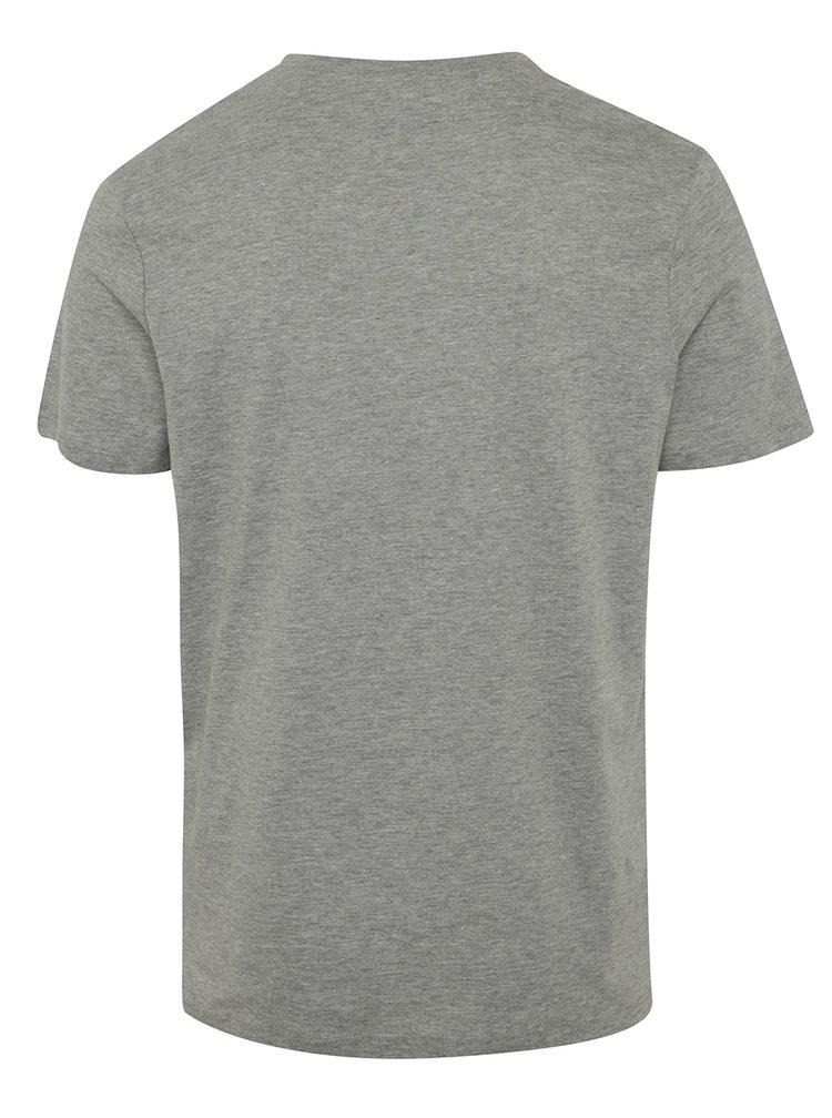 Šedé tričko s potiskem Jack & Jones Ornyraffa