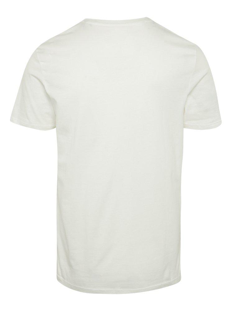 Tricou crem din bumbac cu print - Jack & Jones Ornyraffa