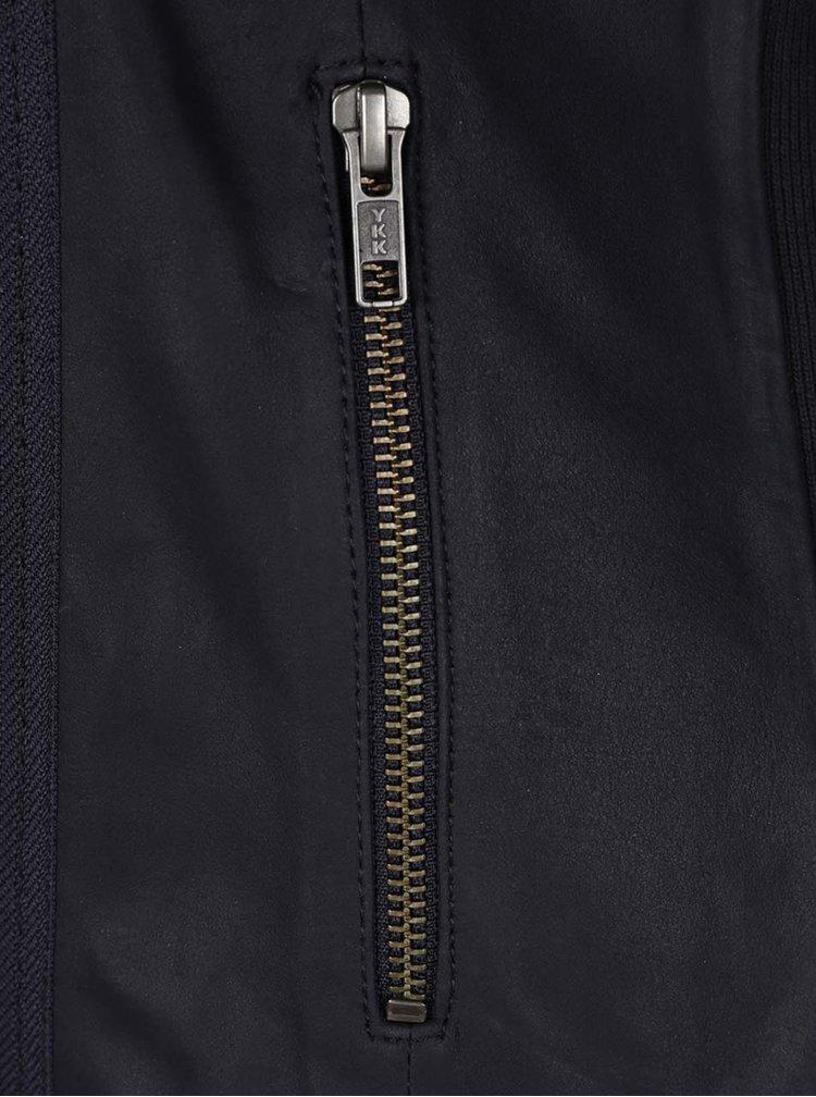 Jachetă albastru închis Selected Femme Danjas din piele