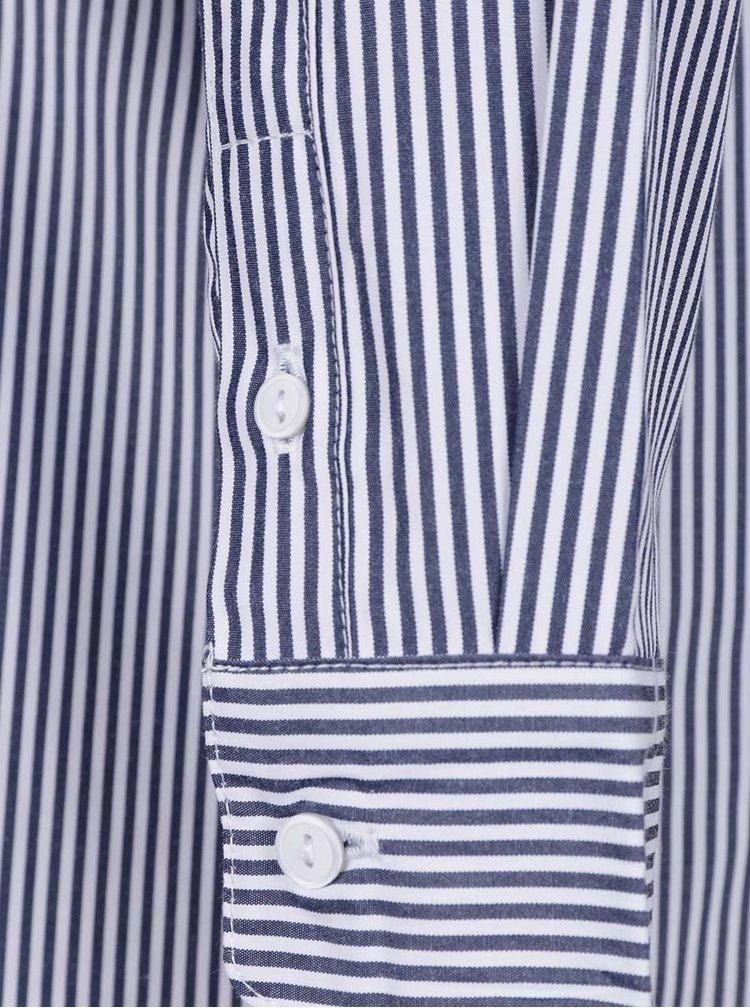 Camasa alb&albastru Selected Femme Cally  cu dungi