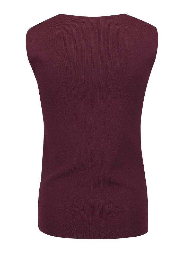 Vínové elastické tílko Selected Femme Mirja