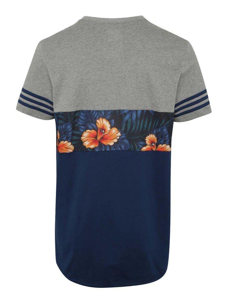 Tricou  in 2 culori cu print floral adidas Originals