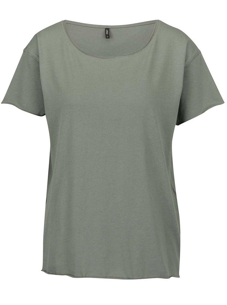 Khaki volné tričko ONLY Vivi