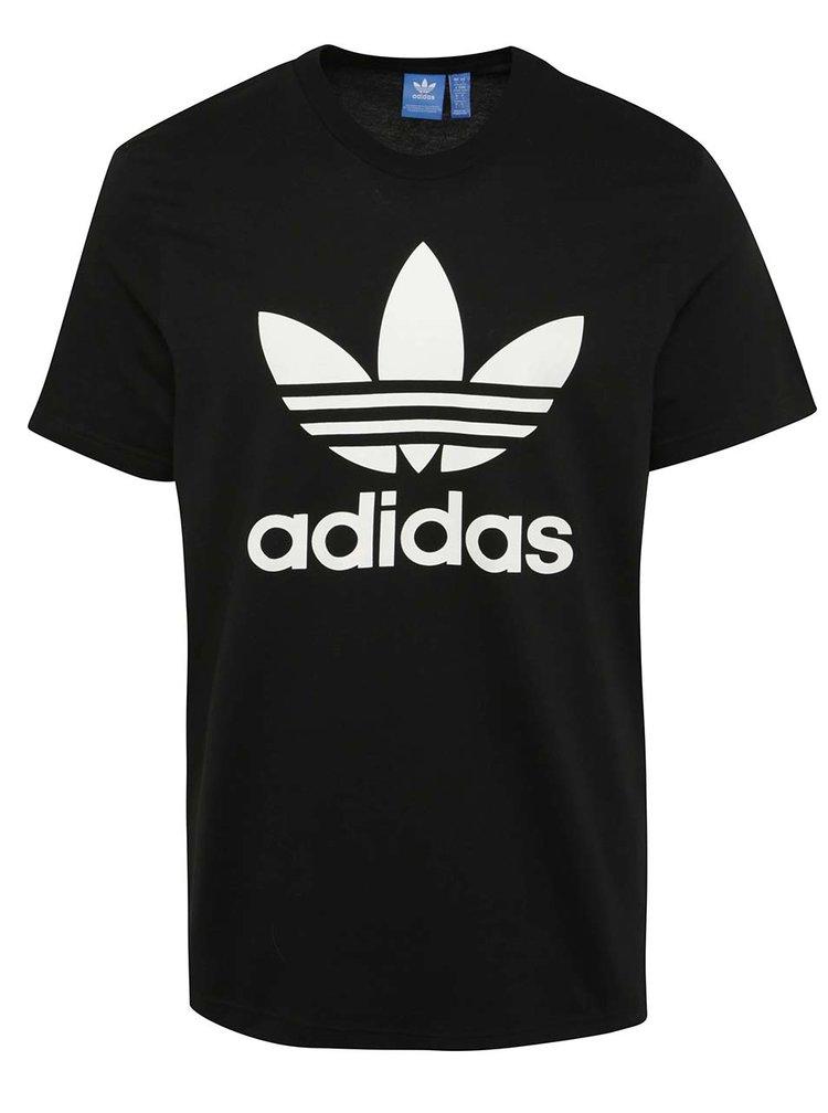 Tricou negru cu logo adidas Originals