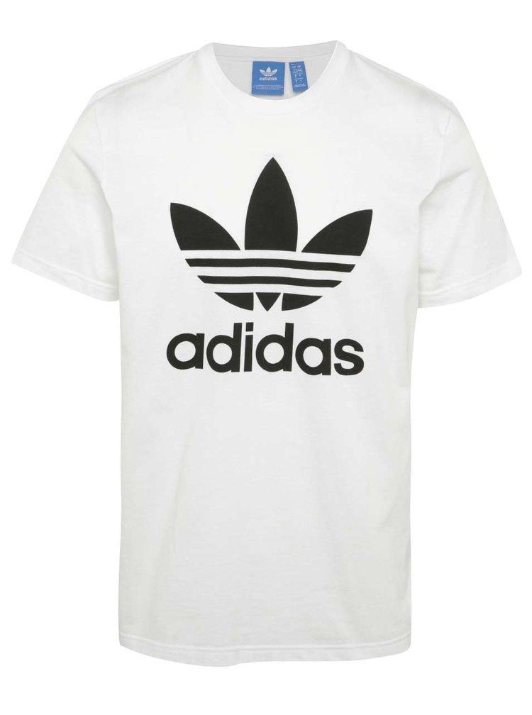 Tricou alb cu logo adidas Originals