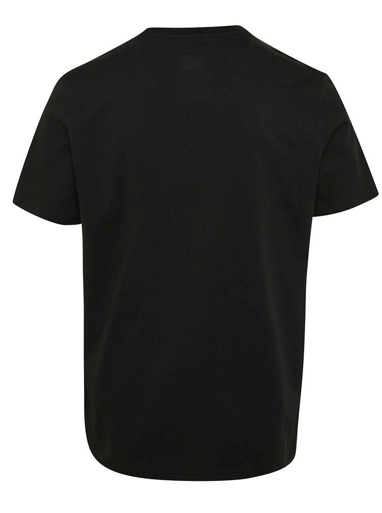 Tricou negru cu print logo adidas Originals