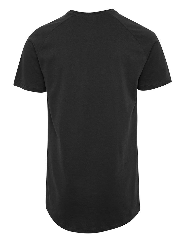 Černé tričko s krátkým rukávem Jack & Jones Corafe