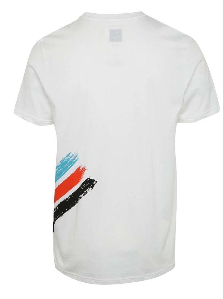 Tricou alb cu print adidas Originals