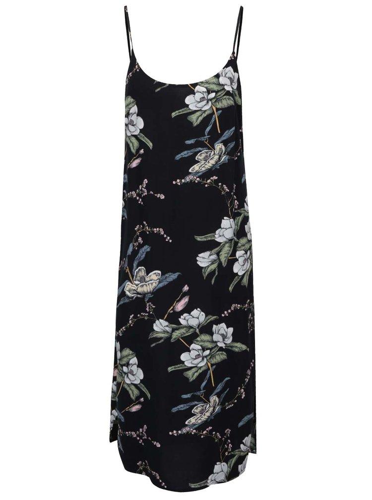 Rochie neagră ONLY Nova cu imprimeu floral