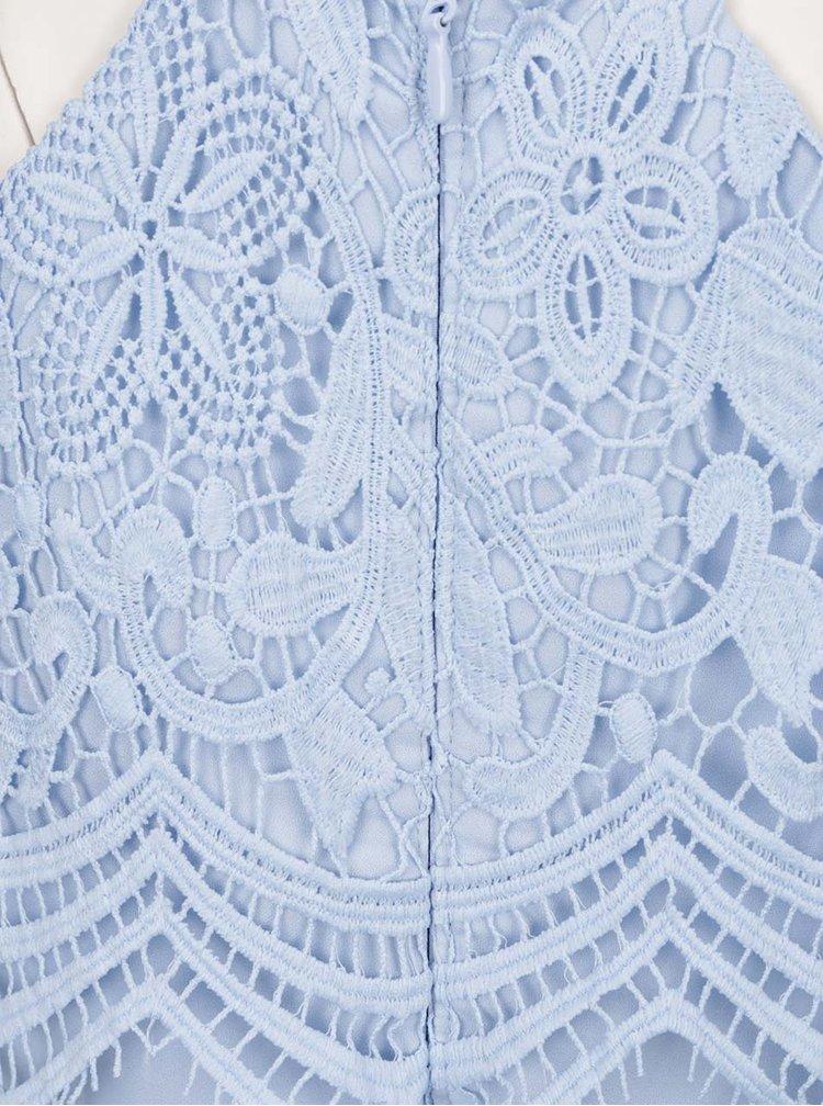Rochie maxi bleu cu aplicație din dantelă  Chi Chi London Trish