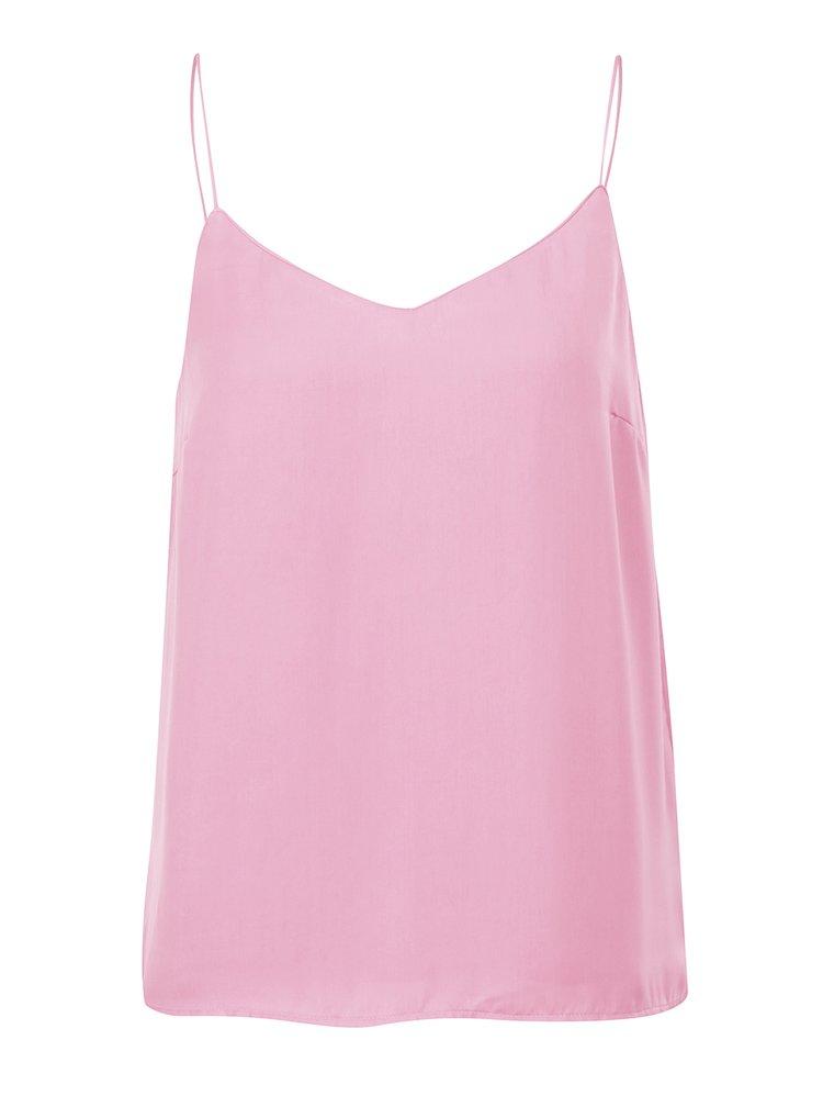 Top roz VERO MODA Bestever cu bretele subțiri