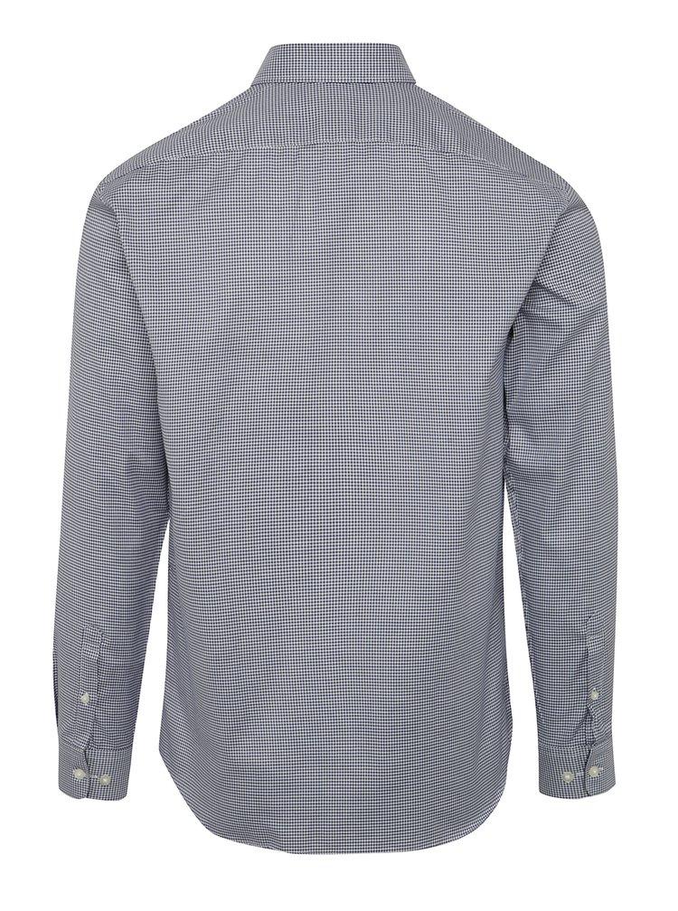 Tmavě modrá kostkovaná formální slim fit košile Selected Homme One New