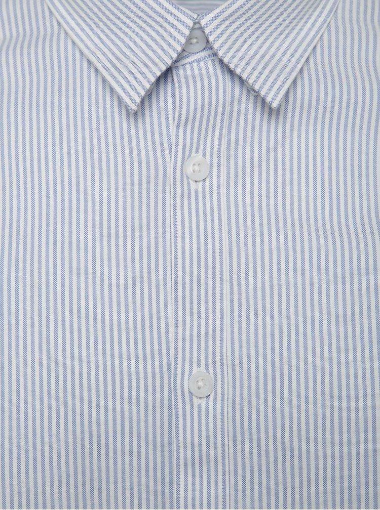 Cămașă alb-albastru slim fit Selected Homme One Victor