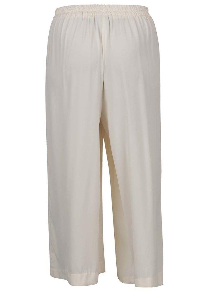 Pantaloni culottes crem VERO MODA Maili cu panglici in talie