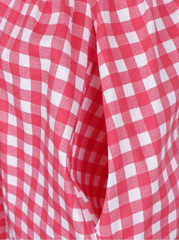 Krémovo-červená kostkovaná sukně ZOOT