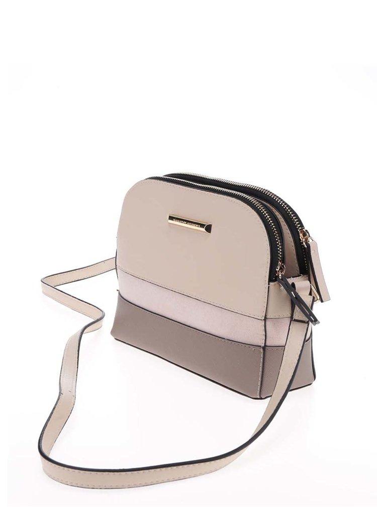 Béžová crossbody kabelka s detaily ve zlaté barvě Dorothy Perkins