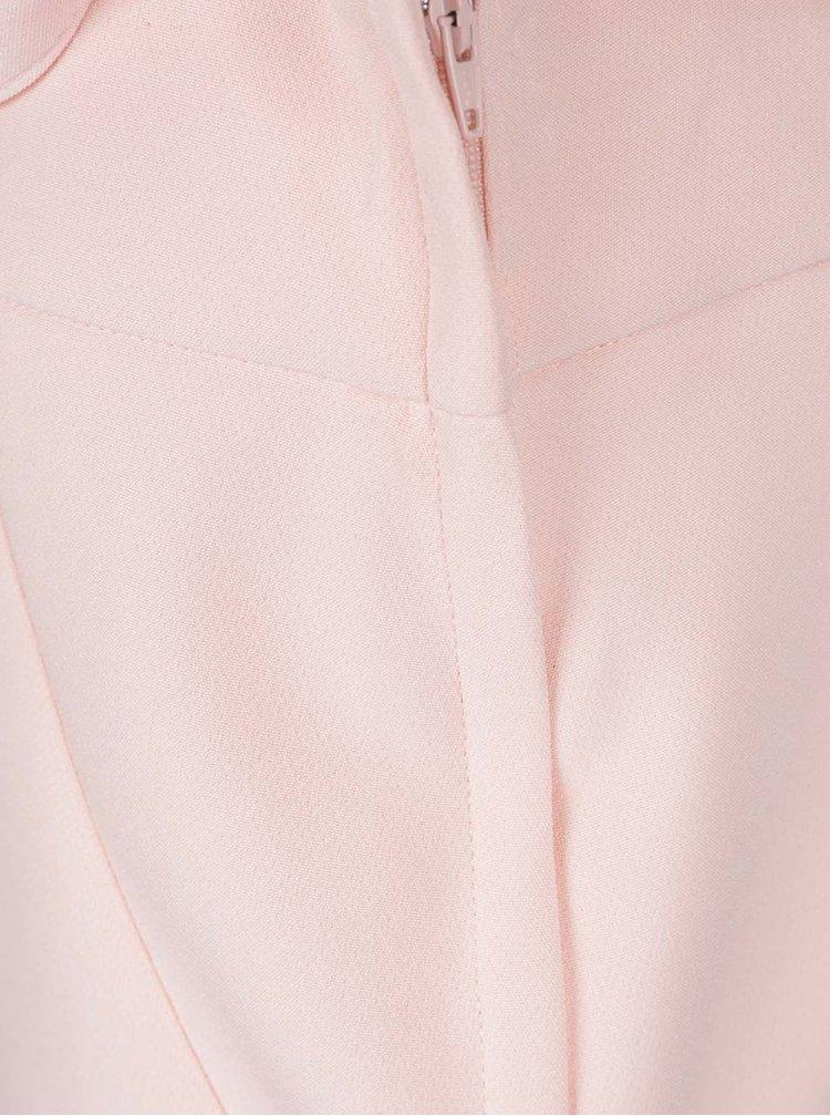 Světle růžová pouzdrová sukně s páskem Dorothy Perkins