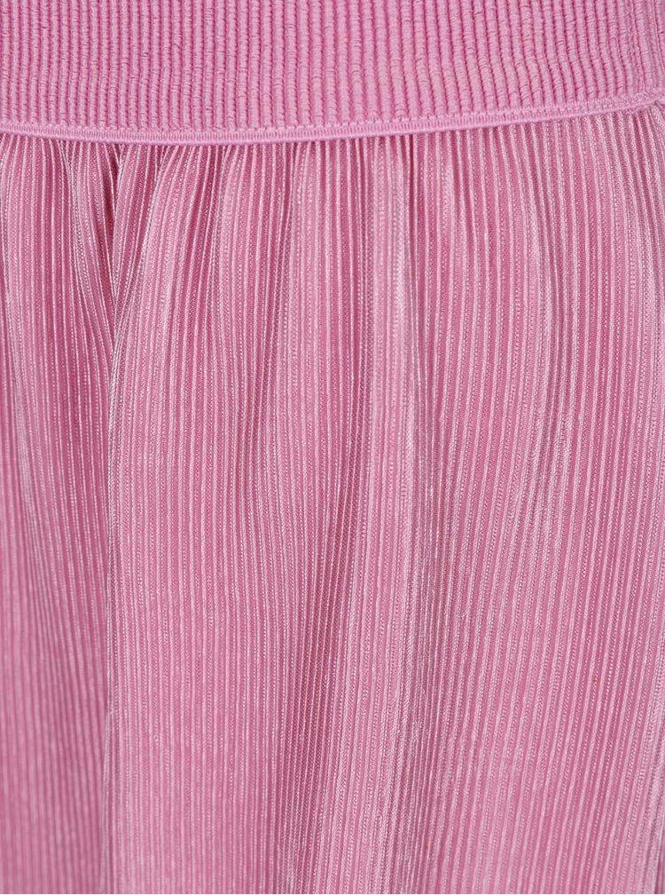 Růžová plisovaná sukně VERO MODA Jackie