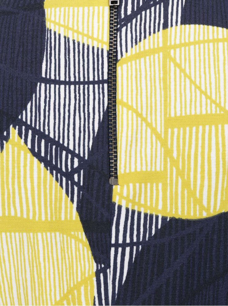 Modro-žluté vzorované pouzdrové šaty Dorothy Perkins