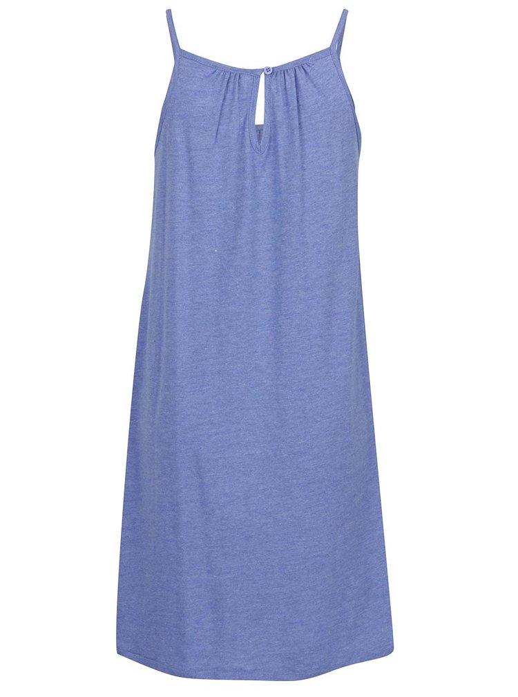 Modré šaty s průstřihem na zádech VERO MODA Happy