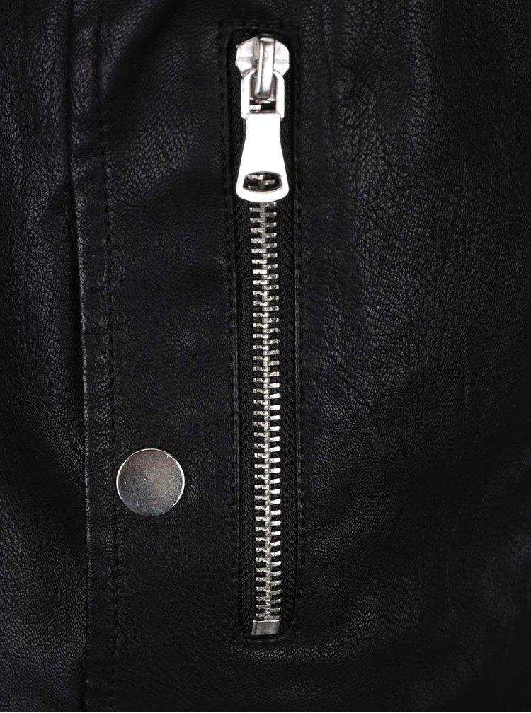 Černá koženková bunda VERO MODA Chanine
