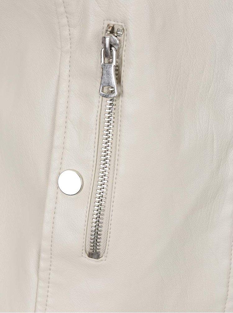 Krémová koženková bunda VERO MODA Chanine