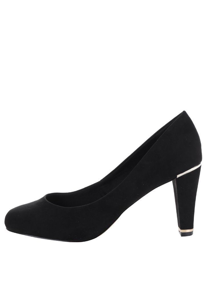 Pantofi negri Dorothy Perkins cu aspect de piele intoarsa