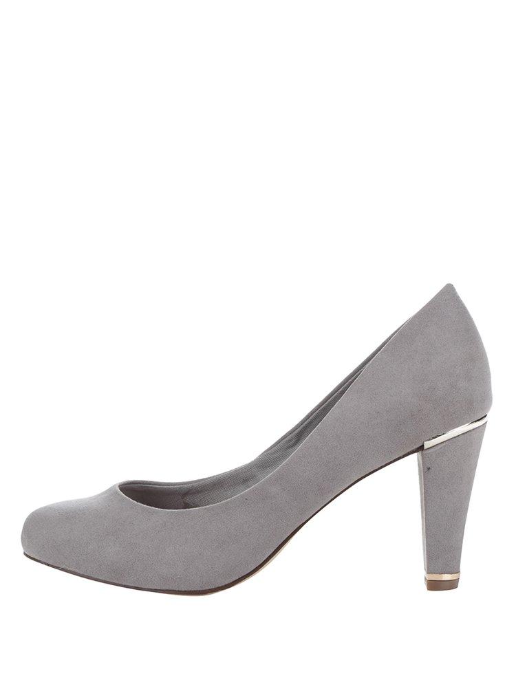 Pantofi gri Dorothy Perkins cu aspect de piele întoarsă
