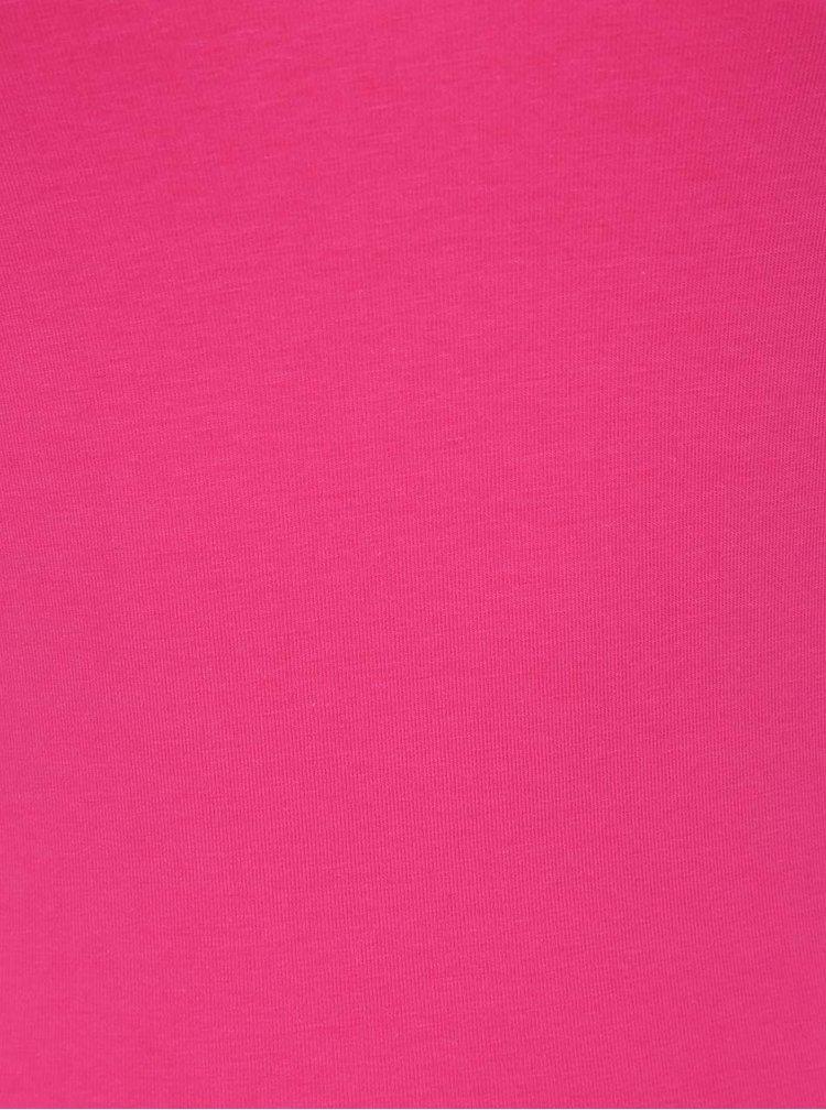 Tmavě růžové basic tílko VERO MODA Maxi