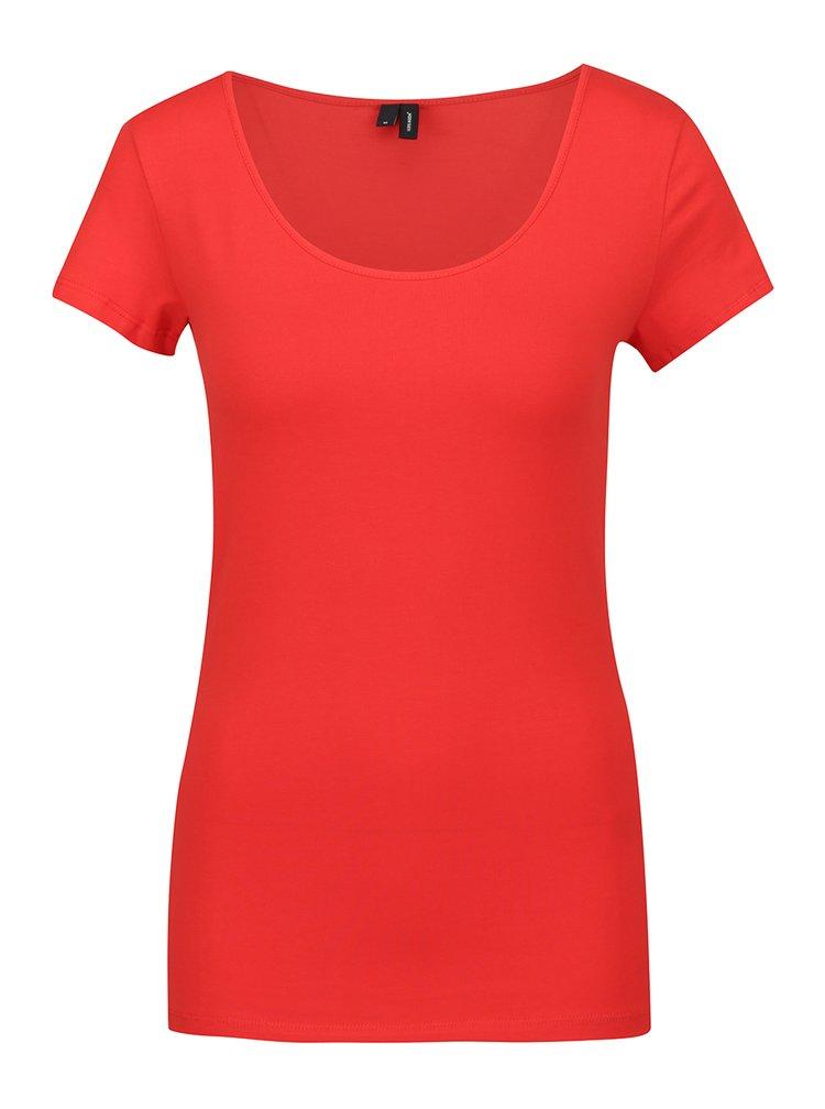 Tricou basic roșu  VERO MODA Maxi