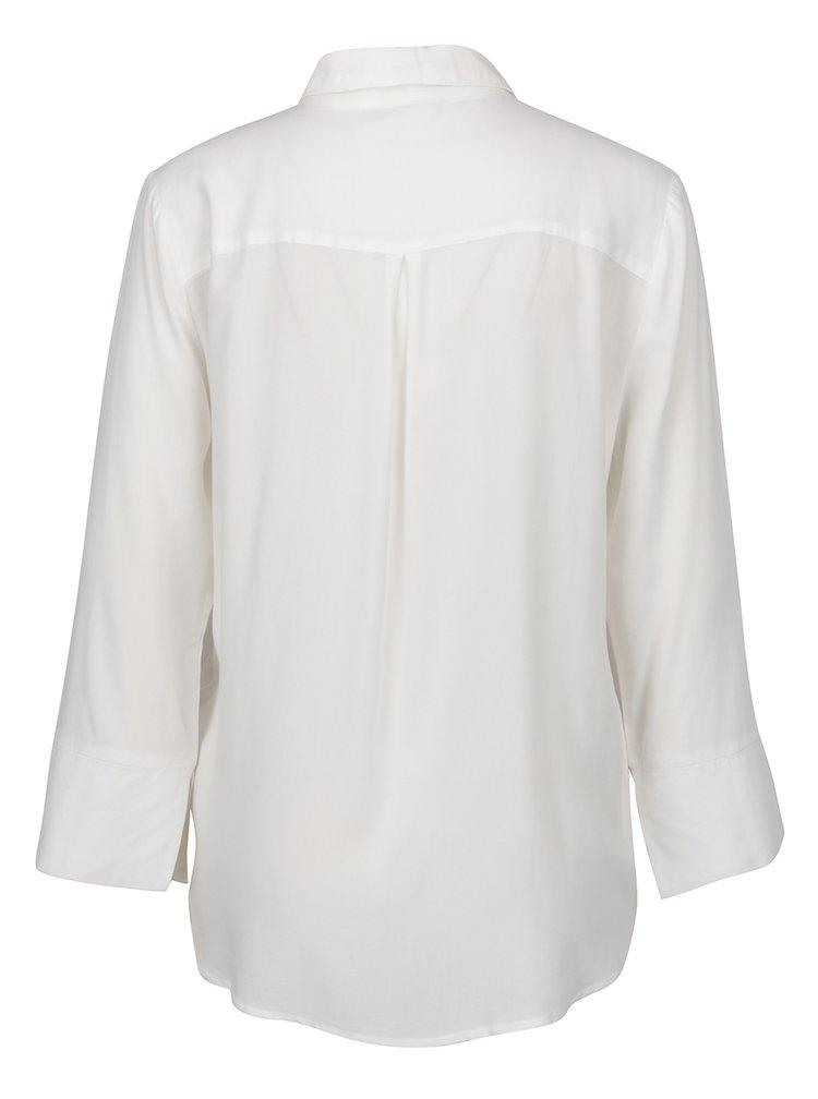 Krémová košile s výšivkou VERO MODA Ember