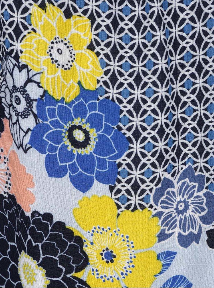 Modrá vzorovaná halenka s odhalenými rameny Dorothy Perkins