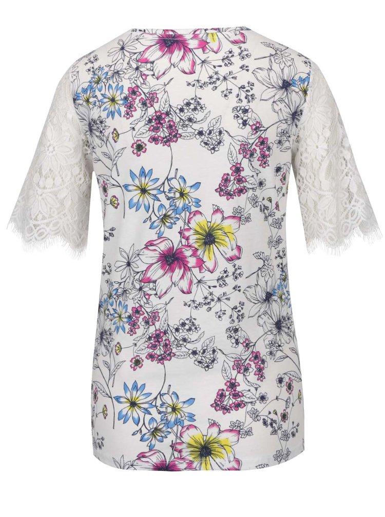Bluza crem Dorothy Perkins cu imprimeu floral