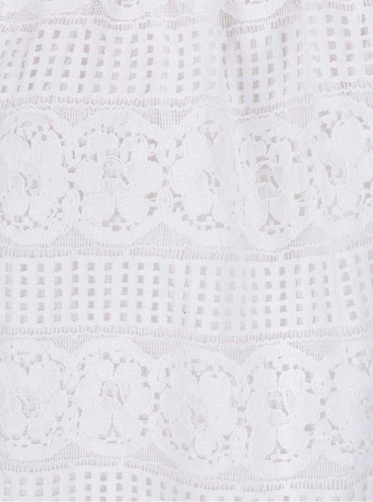 Bílý krajkový top s odhalenými rameny Dorothy Perkins