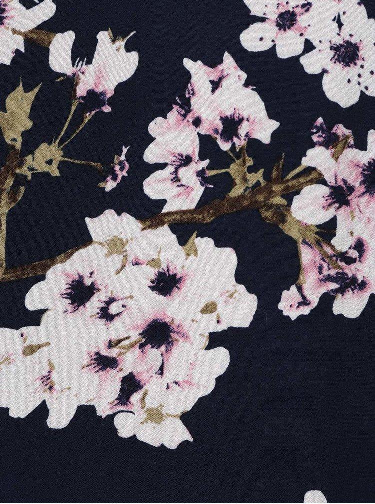 Top bleumarin cu model floral VERO MODA Occasion