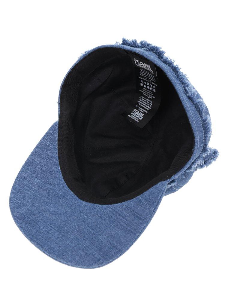 Modrá džínová kšiltovka s kočičími oušky KARL LAGERFELD