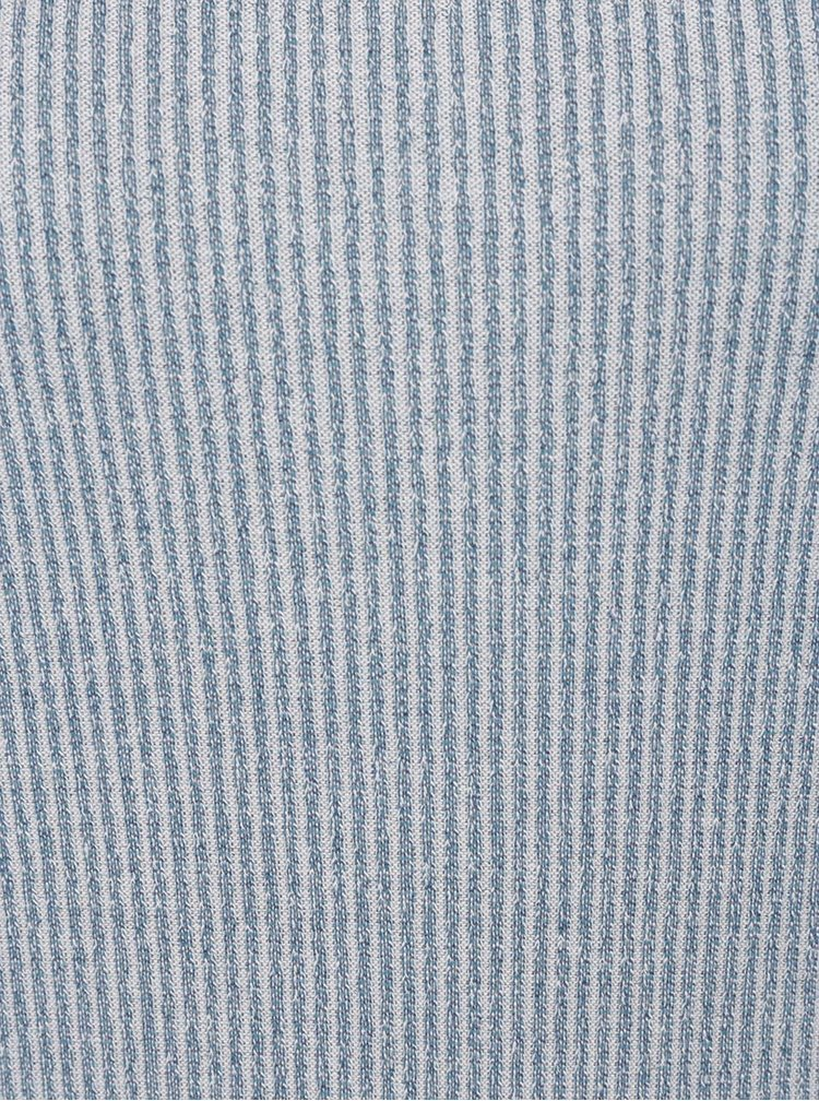 Tricou albastru prafuit din jerseu VERO MODA Kaitlyn cu detaliu incrucisat