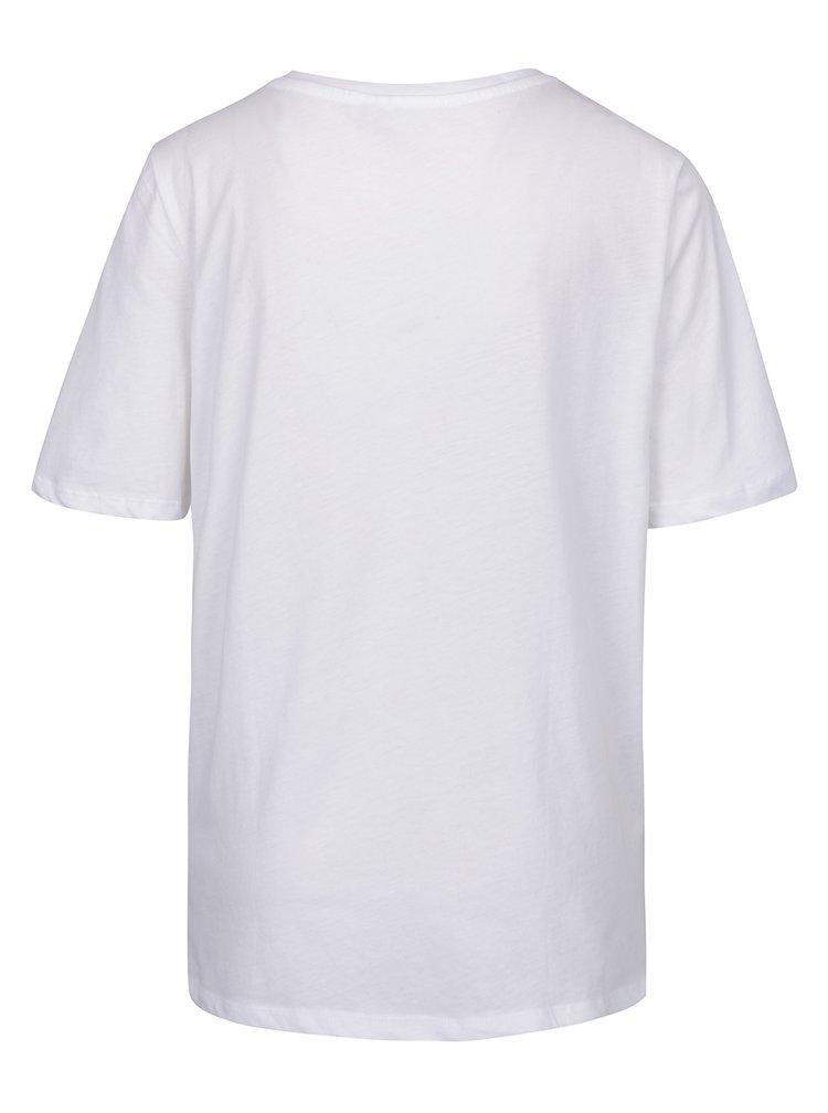 Tricou alb cu print frontal VERO MODA Phoebe