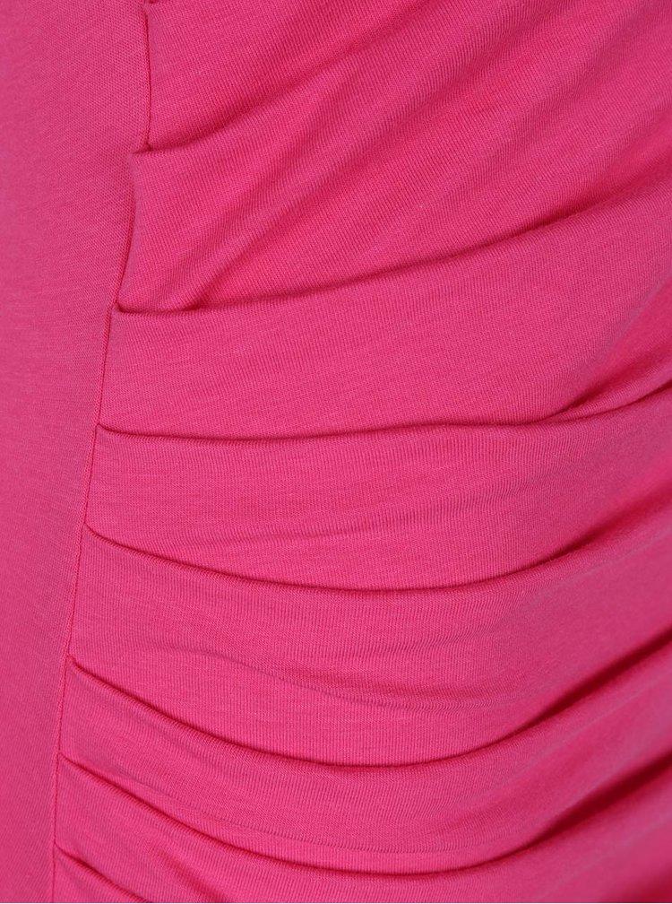 Rochie bodycon roz cu drapaje VERO MODA Katarina