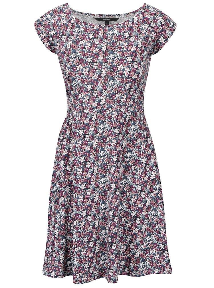 Fialovo-modré květované šaty VERO MODA Jane