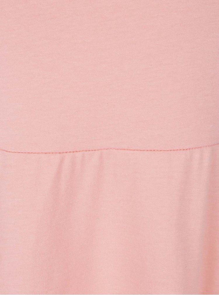 Světle růžové šaty VERO MODA Jane